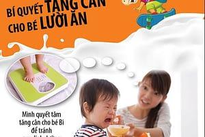 Bí quyết cải thiện cân nặng cho trẻ biếng ăn không tăng cân?